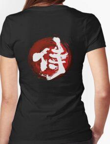 Samurai Kanji (White) Womens Fitted T-Shirt