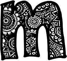 M Doodle Letter Photographic Print