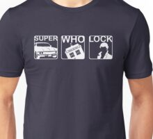 SuperWhoLock Horizontal Unisex T-Shirt