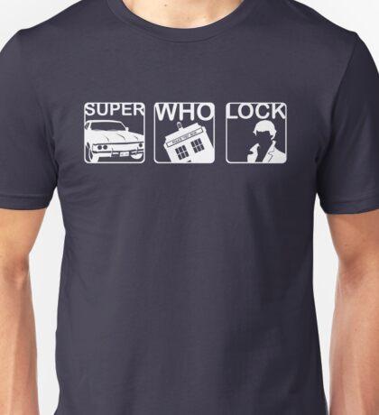 SuperWhoLock Horizontal Unisex T-Shirt
