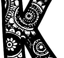 K Doodle Letter by embati