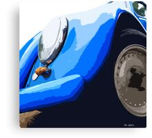 Blue VW Beetle Canvas Print
