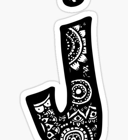J Doodle Letter Sticker