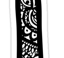 I Doodle Letter Sticker