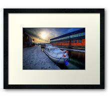 Snow Boat 1.0 Framed Print