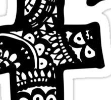 F Doodle Letter Sticker