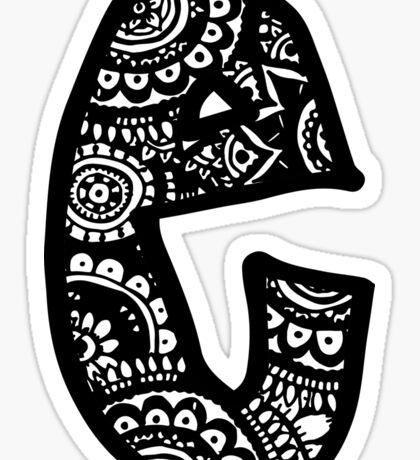 E Doodle Letter Sticker