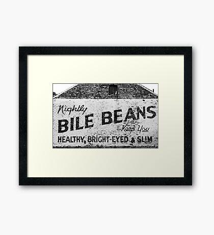 Bile Beans advert Framed Print