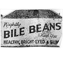 Bile Beans advert Poster