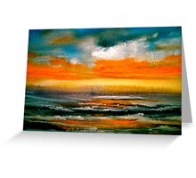 And The Evening Sun Descending..... Greeting Card