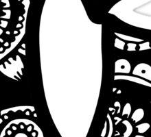 C Doodle Letter Sticker