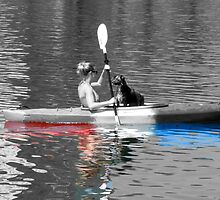 canoe, coed & (border) collie by GuyAmazed