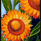 Sunflower column No3 by Chris  Sowels