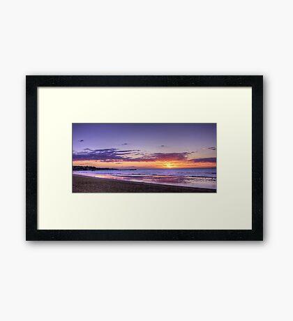 Sunset Frankston Beach Framed Print