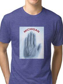 a Michigander's t-shirt Tri-blend T-Shirt