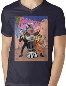 Danger, Will Robinson! Mens V-Neck T-Shirt