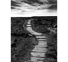 Lifes Paths Are Never Straight But Over The Horizon May Be Your Dream Photographic Print