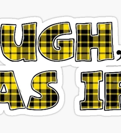 Clueless Quote in Yellow Plaid Sticker