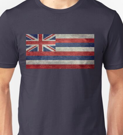 State Flag of Hawaii,  retro style vintage 1-2 scale version Unisex T-Shirt