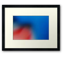 Smooth Blue Framed Print