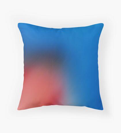Smooth Blue Throw Pillow