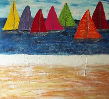 Sand, Surf 'n Sails by Allan Maticic