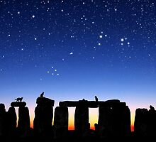 Dawn at Stonehenge: Taurus, Pleiades and Aries by Kathleen Horner