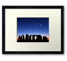 Dawn at Stonehenge: Taurus, Pleiades and Aries Framed Print