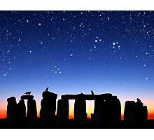 Dawn at Stonehenge: Taurus, Pleiades and Aries Photographic Print