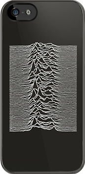 Unknown Pleasures - Joy Division white by Jip van Kuijk