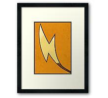 Raichu's Tail - Pokemon Art Poster Minimal Framed Print
