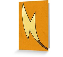 Raichu's Tail - Pokemon Art Poster Minimal Greeting Card