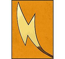 Raichu's Tail - Pokemon Art Poster Minimal Photographic Print