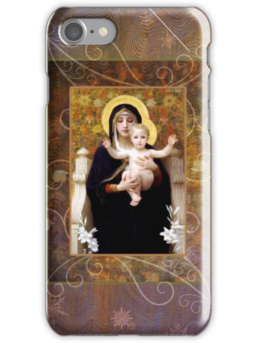 La Vierge iPhone Case by Helen K. Passey
