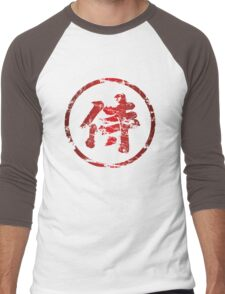 Broken Samurai Kanji (Circle) Men's Baseball ¾ T-Shirt