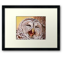 Say Awe... Framed Print