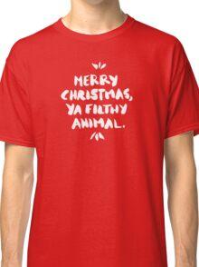 Merry Christmas, Ya Filthy Animal – Red Classic T-Shirt