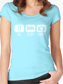 Eat. Sleep. Shoot. Women's Fitted Scoop T-Shirt