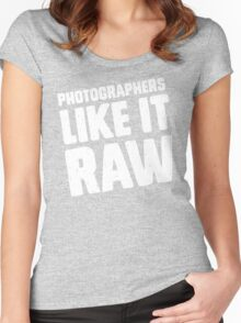 Photographers Like It Raw Women's Fitted Scoop T-Shirt
