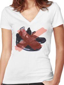 Jordan retro Metallic 5 inspiration Women's Fitted V-Neck T-Shirt