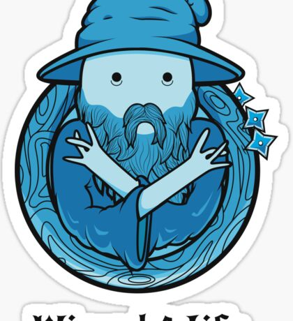 Wizard 4 Life Sticker