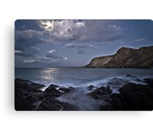 Moon over the Gulf of St Vincent Canvas Print