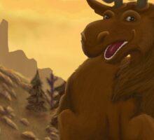 Highlands Moose Sticker