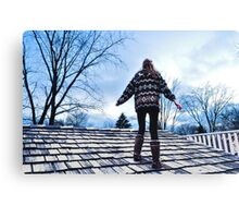 Sweater, Uggs and Shingles Canvas Print