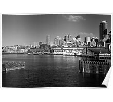 Downtown Seattle from Puget Sound Poster