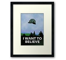 I Want To Believe In Sherlock Framed Print