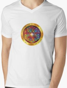 The Flower of Life Mens V-Neck T-Shirt