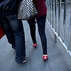 sparkly red shoes by offpeaktraveler
