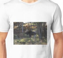 Large Moose in the woods Unisex T-Shirt