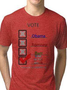 Go Vote Tri-blend T-Shirt